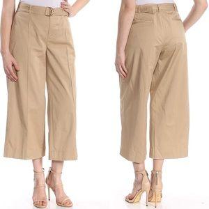 Ralph Lauren Belted Twill Wide Leg Pants